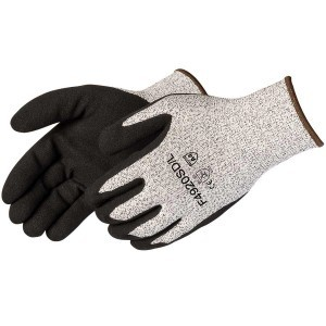 F4920SD HPPE Black Sandy Foam Nitrile Palm Coated Glove, Dozen