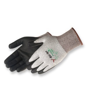 Liberty Gloves F4960 Y-Grip Black Polyurethane Palm Coated Glove, Dozen