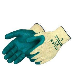 Atlas KV350 10-Gauge Textured Green Nitrile Palm Glove, Dozen