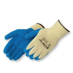 KV4729 K-Grip Premium Textured 10-Gauge Blue Latex Palm Coated Gloves, Dozen