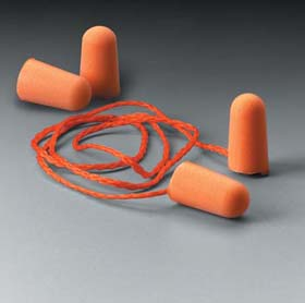 3M Foam Earplugs - Foam Ear Plugs 1110, corded