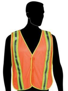 N16240 Fluorescent Orange Vest - 2