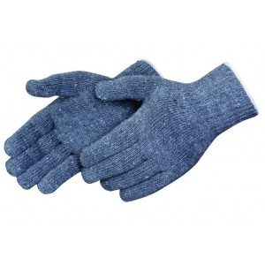 P4517G Regular Gray Cotton/Polyester String Knit Gloves, Dozen