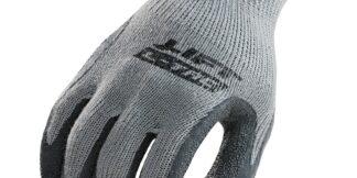 Palmer L-Tac GPL-10Y Gray Latex Coated Palm Glove, Pair