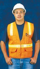 N16020F Orange Surveyor Vest