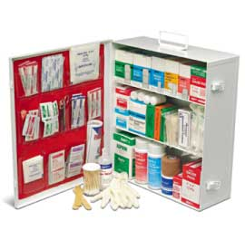 EMPTY 3 SHELF FIRST AID CABINET  WITH LINER
