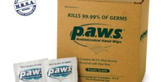Saftec Paws 34400 Antimicrobial Hand Wipes 50 Per Box