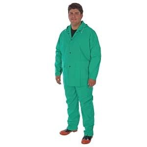 1370 PVC Nylon PVC 2-Piece Green Acid Suit