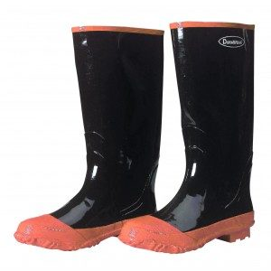 1500 Black Plain Toe Rubber Boots, Pair