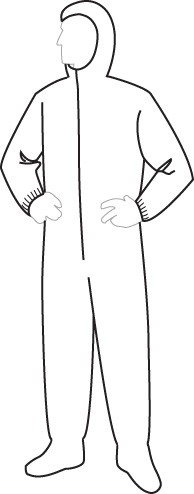 15132 PolyGard Medium Weight Coverall with Hood & Boots, 25ct/case