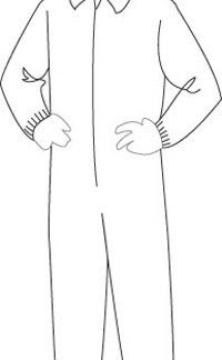 15135 PolyGard Medium Weight Coverall with Elastic Wrist & Ankles, 25ct/case