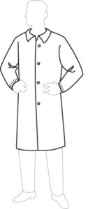 15300 PolyGard Lab Coat without Pockets, 30ct/case