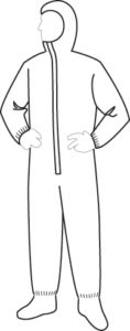 18122 PermaGard Coverall with Hood & Boots, 25ct