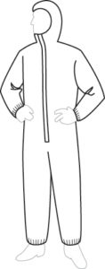 18127 PermaGard Coveralls With Hood, 25ct