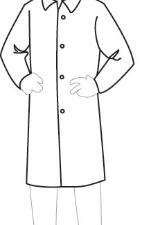18300 PermaGard Lab Coat, 30 pieces/case