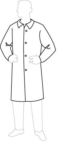 18300 PermaGard Lab Coat, 30 pieces/case