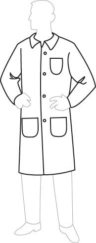 18301 PermaGard Lab Coat with Pockets, 30 piecesc/case