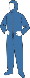 15122B PolyGard Blue Coverall with Hood & Boots, 25ct/case