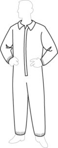 19125XL ProGard Coverall with Elastic Wrist & Ankles Size X-large, 25ct/case