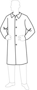 19300 ProGard Disposable Lab Coat, 30ct/case