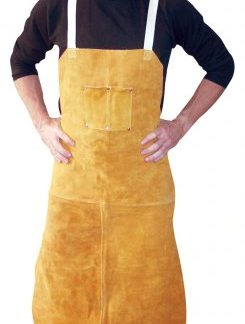 4242 Leather Aprons - Bib apron w/ 2 chest pockets & back straps