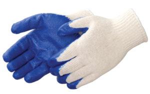 Liberty Gloves 4719 A-Grip Blue Latex Coated Palm Glove, Dozen