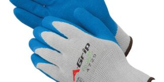 Liberty Gloves 4729G A-Grip Blue Latex Coated Palm Glove, Pair