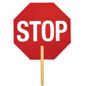 ML Kishigo 5965 Ultra Lightweight Non-Reflective Stop Sign