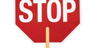 ML Kishigo 5961 Reflective High Intensity Grade Stop/Slow Sign