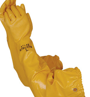 Liberty Gloves 772 Atlas Yellow Nitrile Rough Finish with 26