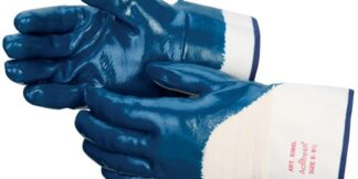 Liberty Gloves 9360 Smooth Finish Blue Nitrile Palm Coated Glove, Dozen
