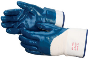 Liberty Gloves 9460SP Economy Smooth Finish Blue Nitrile Fully Coated Glove, Dozen