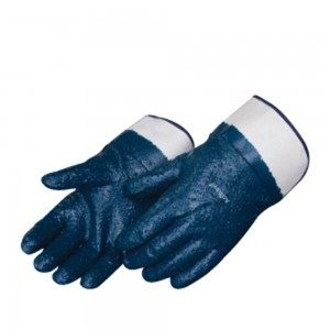 Liberty Gloves 9430 Fully Coated Rough Blue Nitrile Glove, Dozen