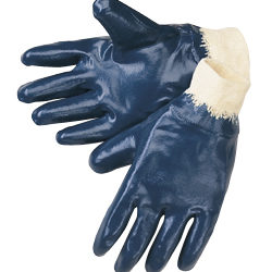 Liberty Gloves 9473SP Economy Light Weight Blue Nitrile Fully Coated Gloves, Dozen