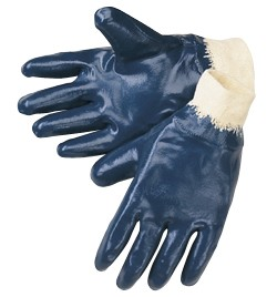 Liberty Gloves 9473 Light Weight Blue Nitrile Fully Coated Gloves, Dozen