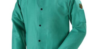 Black Stallion F9-36C TruGuard  9oz Green FR Cotton Welding Jacket, 36