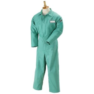 Black Stallion F9-32CA/PT 9oz Flame-Resistant Cotton Coverall, Green