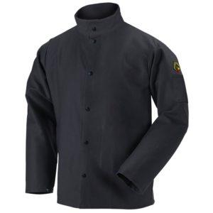 Black Stallion FR9-30C TruGuard  9oz Black FR Cotton Welding Jacket