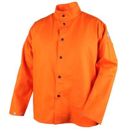 Black Stallion FO9-30C TruGuard  9oz. Safety Orange FR Cotton Welding Jacket
