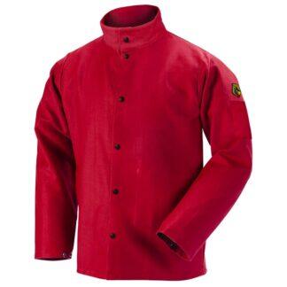 Black Stallion FR9-30C TruGuard  9oz Red FR Cotton Welding Jacket