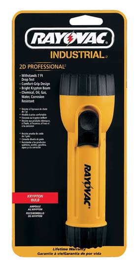 Industrial 2D Krypton Flashlights - Industrial 2D flashlight w/ krypton bulb & magnet