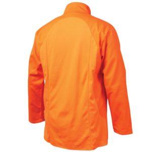 Black Stallion JF1625-OR Stretch-Back FR Cotton Welding Jacket, Orange with Orange Stretch Panel