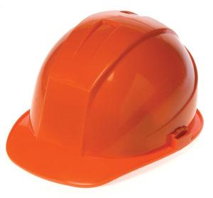 DURASHELL 6 POINT PINLOCK SUSPENSION ORANGE HARD HAT