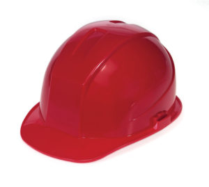 DURASHELL 6 POINT PINLOCK SUSPENSION RED HARD HAT