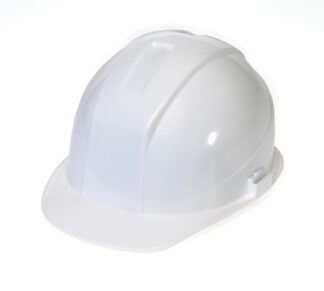 DURASHELL 4 POINT RATCHET SUSPENSION WHITE HARD HAT