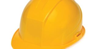 DURASHELL 6 POINT PINLOCK SUSPENSION YELLOW HARD HAT