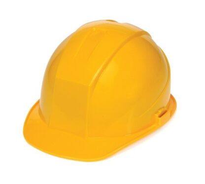 DURASHELL 6 POINT PINLOCK SUSPENSION YELLOW HARD HAT