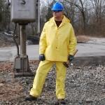 R8023FR Defiance 3 Peice Yellow Rainsuit .28 mm PVC/Nylon/PVC Fabric, Flame Resistant (ASTM D6413)