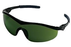 ST1130 Welding Safety Glasses - BLACK FRAME GREEN  3.0 LENS