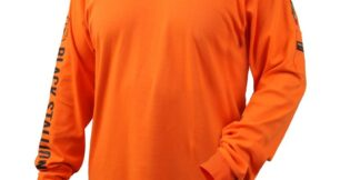 Black Stallion TF2510-NV  7 oz. 100% FR Cotton Knit Long-Sleeve T-Shirt, Orange